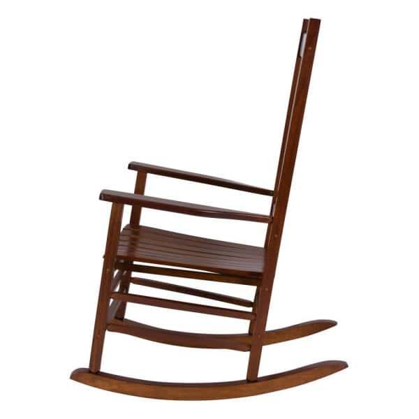 Natural Oak Wood Outdoor Rocking Chair Patio Porch Rocker Classic Traditional