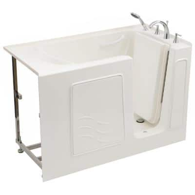 Builder's Choice 53 in. Right Drain Quick Fill Walk-In Soaking Bath Tub in White