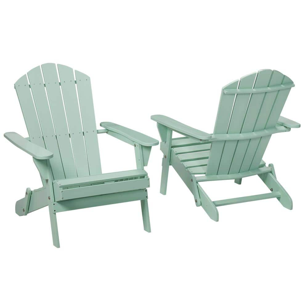 Hampton Bay Mist Folding Outdoor Adirondack Chair 2 Pack 2 1 1088mist The Home Depot