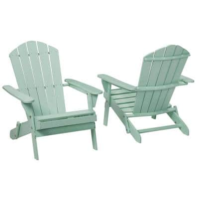 Mist Folding Outdoor Adirondack Chair (2-Pack)