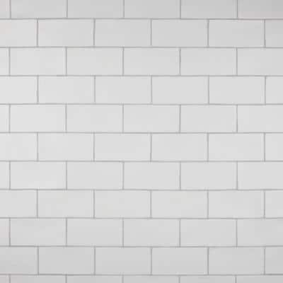 Chester Matte Bianco 3 in. x 6 in. Ceramic Wall Subway Tile (6.02 sq. ft. / Case)