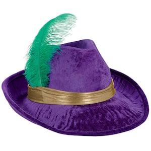 Purple Pimp Mardi Gras Fedora (2-Pack)