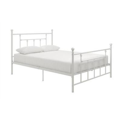 Mia White FullMetal Bed Frame