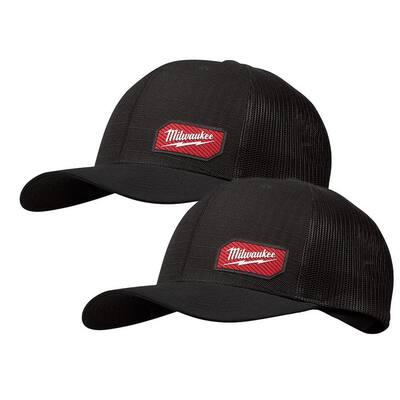 GRIDIRON Black Adjustable Fit Trucker Hat (2-Pack)