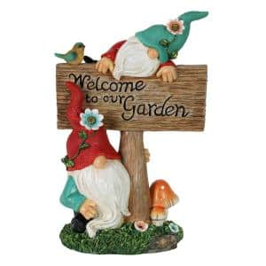 7.5 in. x 11 in. Can't See Hat Welcome Sign Gnomes Garden Statue