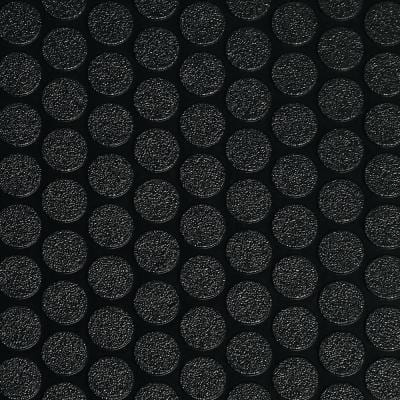 Small Coin 10 ft. x 24 ft. Midnight Black Commercial Grade Vinyl Garage Flooring Cover and Protector