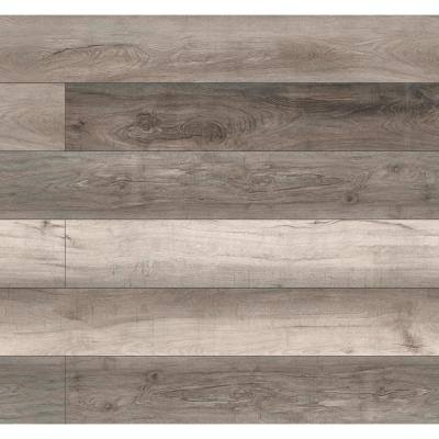 7.13 in. W x 48.03 in. L Woodland Mave Rigid Core Click Lock Luxury Vinyl Plank Flooring (23.77 sq. ft./case)