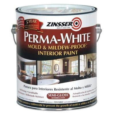 Perma-White 1 gal. Mold & Mildew-Proof Semi-Gloss Interior Paint (2-Pack)