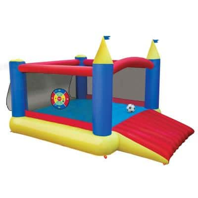 16419 Slide 'n Score Activity Bouncer Inflatable Bounce House with Games