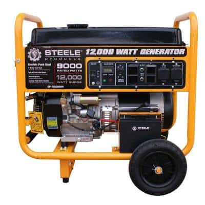 9,000-Watt Electric Start Gasoline Powered Portable Generator