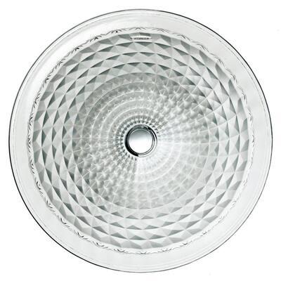 Kallos Undermount Glass Bathroom Sink in Ice
