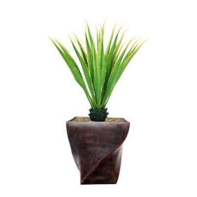 57.5 in. Real Touch Agave Plantin Resin Planter