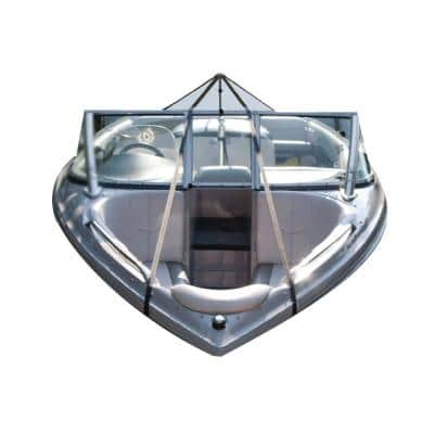 22 in. to 70 in. Boat Cover Support System with Support Pole with Snap and Vinyl End System Center and Strap Set