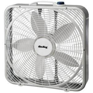Stationary 20 in. 3-Speed Box Fan Commercial Grade (120-Volt)