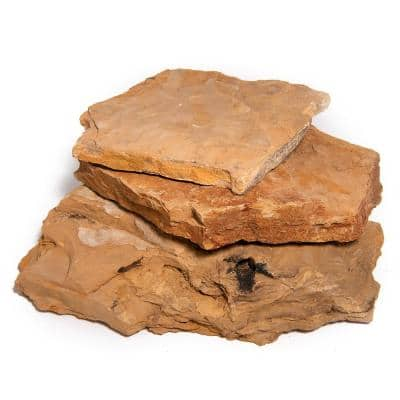 16 in. x 12 in. x 2 in. 120 sq. ft. Snakeskin Natural Flagstone for Landscape, Gardens and Pathways