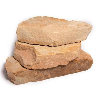 16 in. x 12 in. x 2 in. 120 sq. ft. Crazy Horse Natural Flagstone for Landscape, Gardens and Pathways