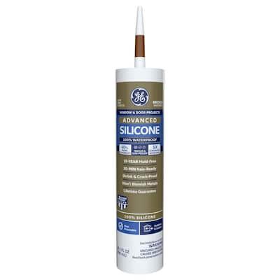 Advanced Silicone 2 10.1 oz. Brown Exterior/Interior Window and Door Sealant