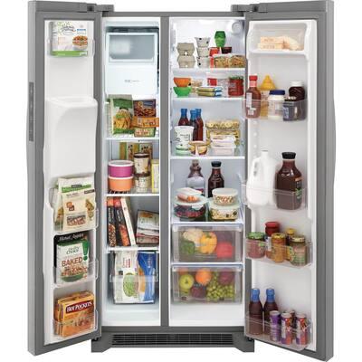 33 in. 22.3 cu. ft. Standard Depth Side by Side Refrigerator in Stainless Steel