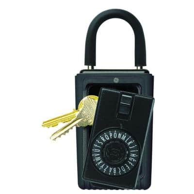 Portable Dial 3-Key Lock Box (6-Pack, Combo Colors)