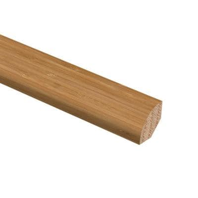 Vertical Bamboo Toast 3/4 in. Thick x 3/4 in. Wide x 94 in. Length Hardwood Quarter Round Molding