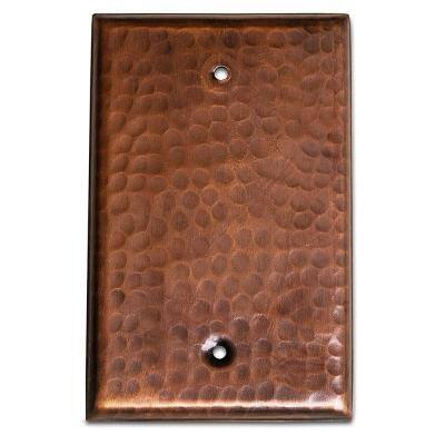 Monarch Pure Copper Hand Hammered Blank Wall Plate