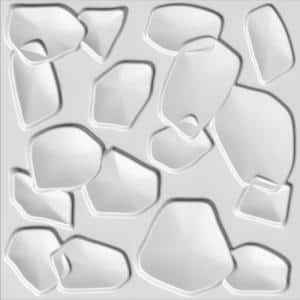 Falkirk Fifer 20 in. x 20 in. Paintable Off White Abstract Minimalist Fiber Decorative Wall Paneling (5-Pack)
