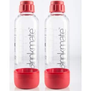 0.5 L Red Carbonating Water Machine Bottles