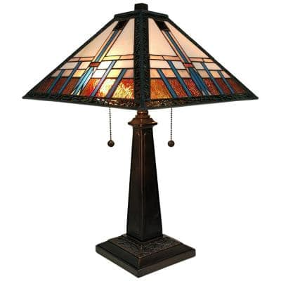 21 in. Tiffany Style Mission Table Lamp
