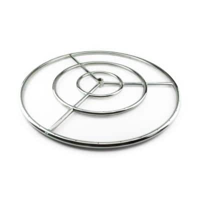 36 in. Stainless Steel Fire Ring Burner