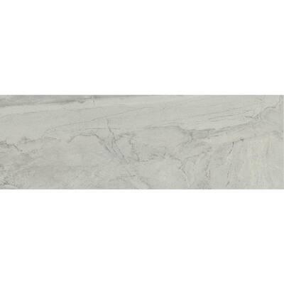 Eurasia Bianco 2.76 in. x 11.81 in. Matte Porcelain Single Bullnose Tile-Each