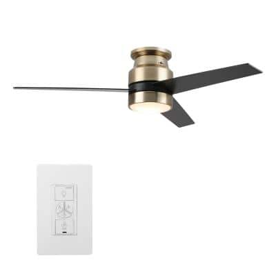 Ranger 52 in. LED Indoor Gold Smart Ceiling Fan with Light Kit and Wall Control, Works with Alexa/Google Home/Siri