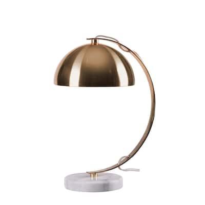 Bud 16.5 in. Gold Desk Lamp