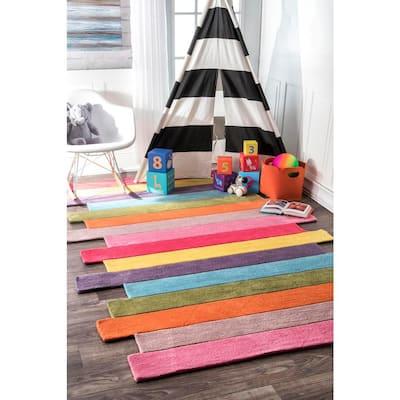 Pantone Colorful Stripes Playmat Multi 6 ft. x 9 ft.  Area Rug