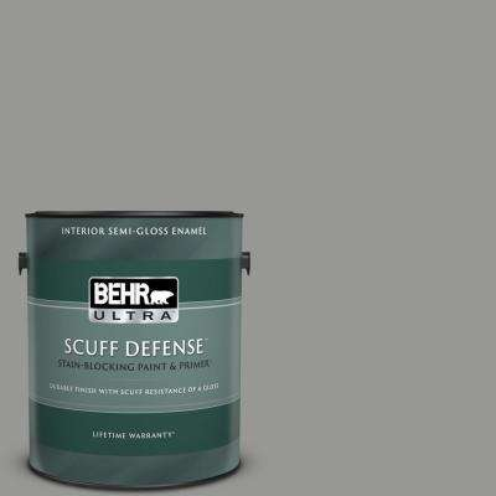 1 gal. #PPU24-19 Shark Fin Extra Durable Semi-Gloss Enamel Interior Paint & Primer