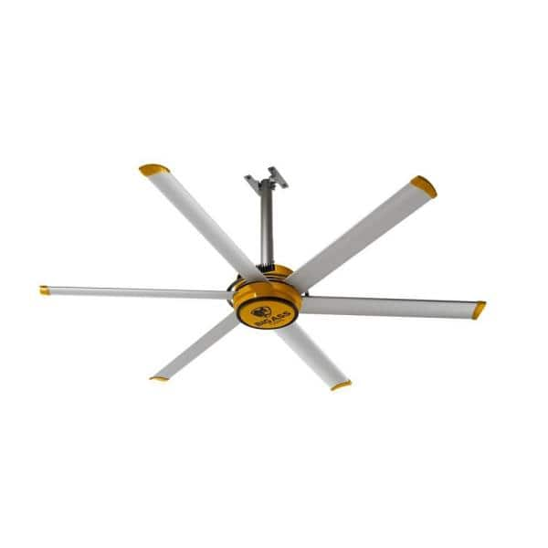 Gitchshka big ass fans Big Ass Fans 2025 7 Ft Indoor Yellow And Silver Aluminum Shop Ceiling Fan With Wall Control F Es2 0701s34 The Home Depot