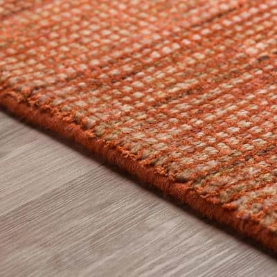 Dexter 1 Paprika 2 ft. 3 in.  x 7 ft. 6 in.  Tonal Solid Wool and Viscose Indoor Area Rug Runner