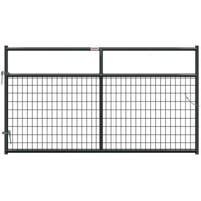 8 ft. x 1-5/in. x 50 in. H Gray Powder Coat Wire Filled Tube Gate