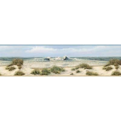 Falmouth Beige Dunes Beige Wallpaper Border Sample