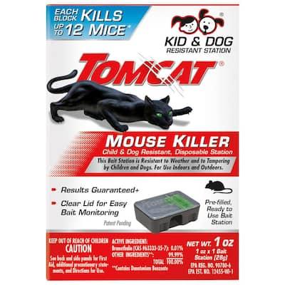Mouse Killer Child and Dog Resistant Disposable Station, 1 Preloaded Station