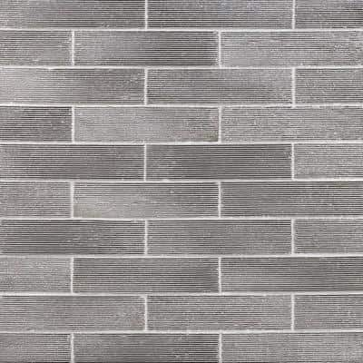 Weston Ridge Dark Gray 2 in. x 9 in. 11mm Glazed Clay Subway Wall Tile (33-piece 5.64 sq. ft. / box)