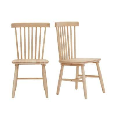 Unfinished Wood Windsor Dining Chair (Set of 2) (19.5 in. W x 35 in. H)