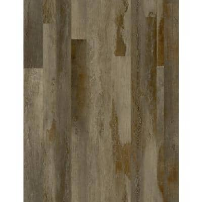 Fumed Distressed Wood 7 in. x 48 in. Peel and Stick Wall and Floor Luxury Vinyl Planks (23.33 sq. ft. per case)