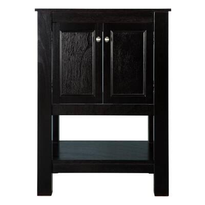 Gazette 24 in. W x 21.75 in. D x 34 in. H Vanity Cabinet Only in Espresso