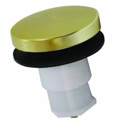 Toe Touch Bath Tub Drain Cartridge with 5/16 in. Threads in Polished Brass