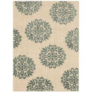 Exploded Medallions Starch 5 ft. x 7 ft. Indoor Area Rug