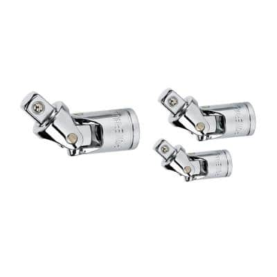1/4 in. x 3/8 in. x 1/2 in. Drive U-Joint Set (3-Piece)