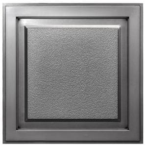 Element 2 ft. x 2 ft. Lay-in or Glue-up Ceiling Tile in Antique Nickel (40 sq. ft. / case)