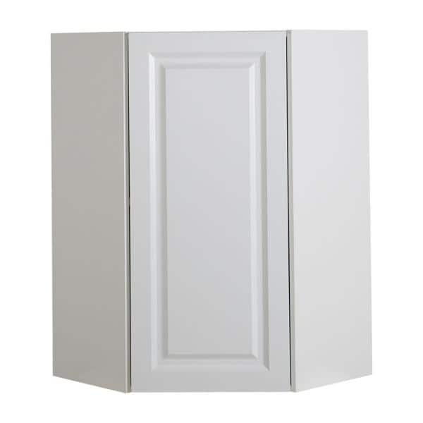 Hampton Bay Benton Assembled 24x36x12 5 In Corner Wall Cabinet In White Bt2436c Wh The Home Depot