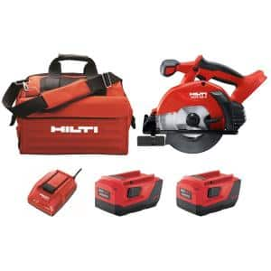 22-Volt Lithium-Ion Cordless Circular Saw Kit, Two 8.0 Ah Batteries, Charger and Bag