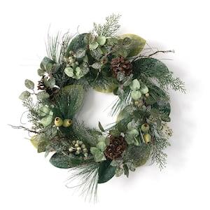 24 in. Artificial Pine, Berry & Cone Wreath